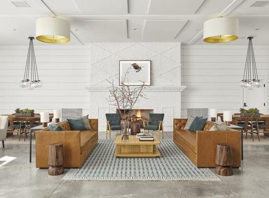 Macalester sofas, Graham coffee table and Tulum rug
