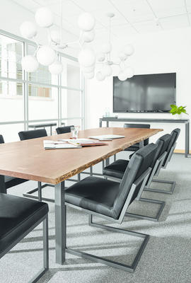 Chilton conference table and Lira chairs