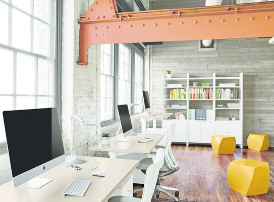 Float adjustable desks and Choral office chairs