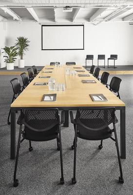 Parsons conference table and Runa office chairs