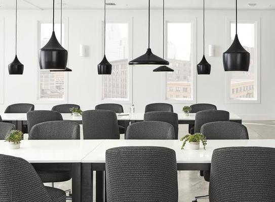 Linden tables and Cora office chairs