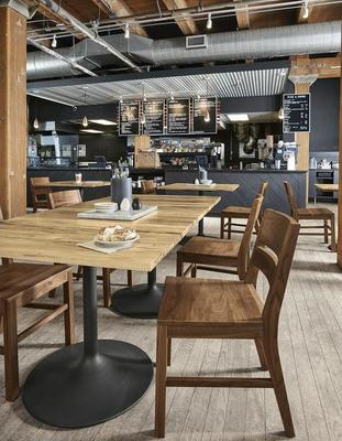 Aria tables and Afton chairs