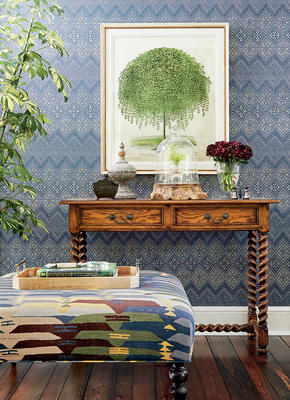 High Plains wallcovering and Rio Grande fabric