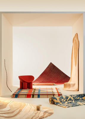 Forma | Act II   Rugs from front to back: Eden, Dynasty, Zara, River (hanging), Coda