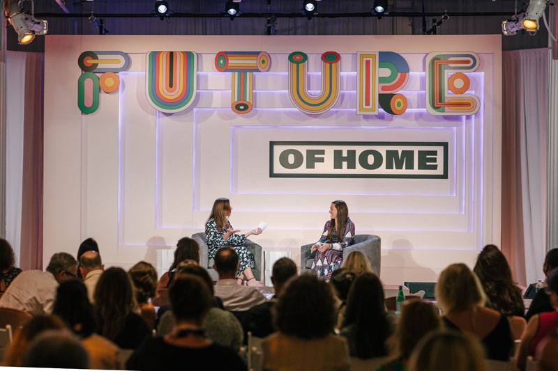 Afterpay's Bree Blazak (right) speaks with Kaitlin Petersen about the changing spending habits of the next generation.
