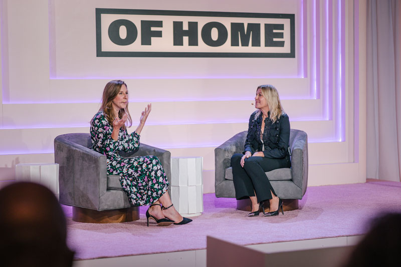 Designer Cortney Bishop (right) speaks with Kaitlin Petersen about the importance of putting the client experience first.