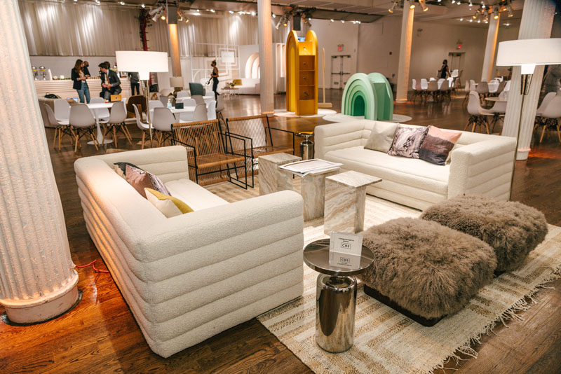 CB2 outfitted a lounge area for guests to relax and kick back between programming segments.