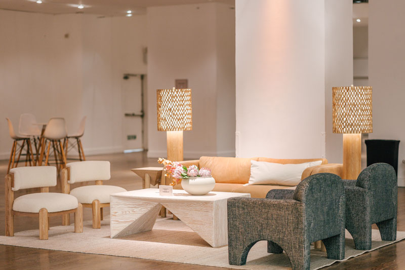 Crate & Barrel outfitted a lounge area for attendees to enjoy between programming segments.