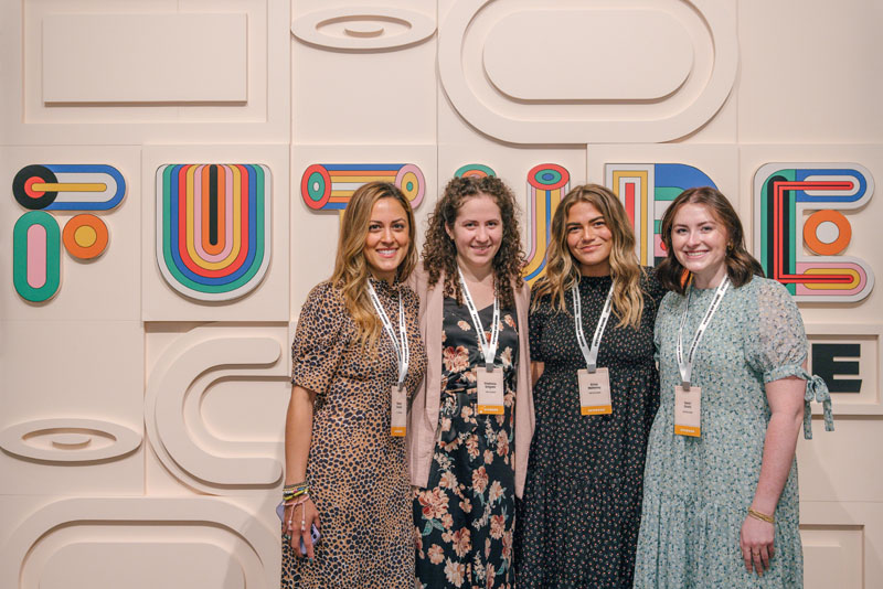 Shehan Ghanchi, Stephanie Gregoire, Erica Mahoney and Sarah Gould from The Tile Shop