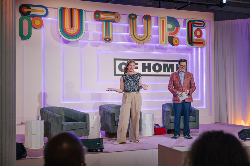 Future of Home 2021's hosts and MCs, Sophie Donelson and Dennis Scully
