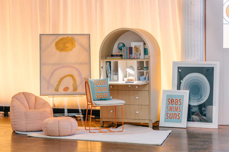 A surprise unveiling of the brand-new Domino x Crate & Kids collection