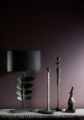 Verdigris lamps from the new collection.