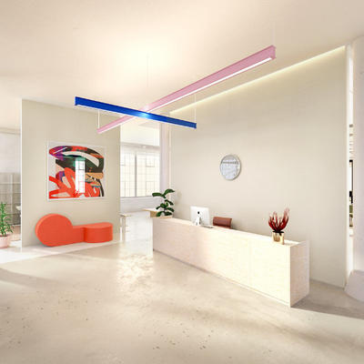 Latis LED Linear Suspension Light by RBW