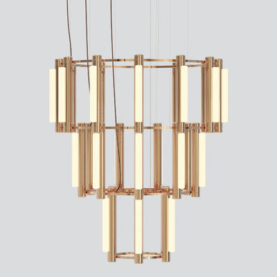 Pipeline LED 3 Tier Chandelier by Caine Heintzman from ANDlight