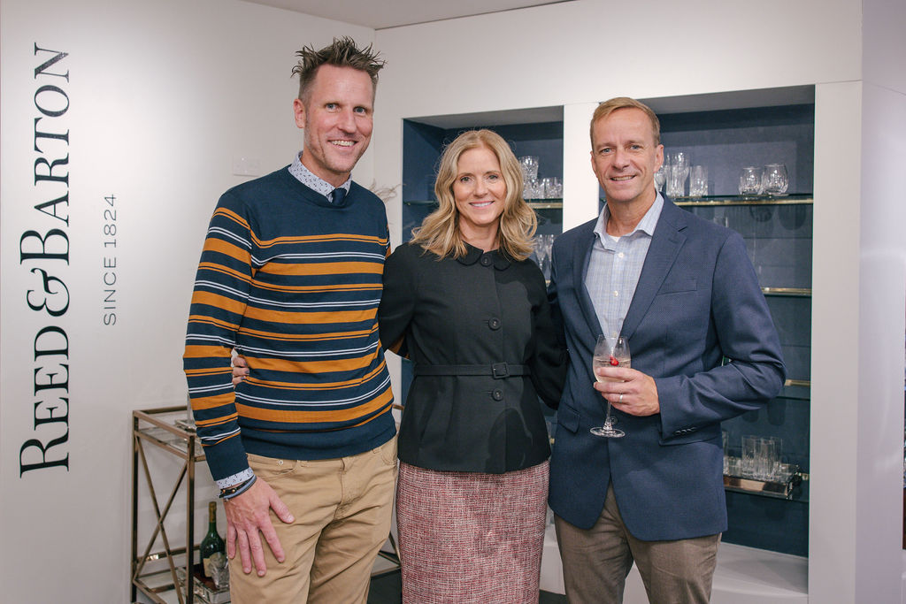 Lenox CEO Bob Burbank (left) and chief sales & revenue officer Lucas Updegraph (right) with Kristi Forbes, SVP and director of Forty One Madison.