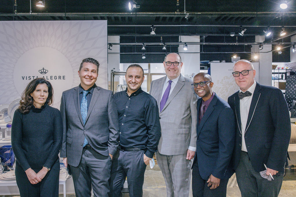 Geary's team, led by their president and CEO Tom Blumenthal (fourth from left) met with the team from Vista Alegre, including Daniel Silva (third from left), the brand's US president.