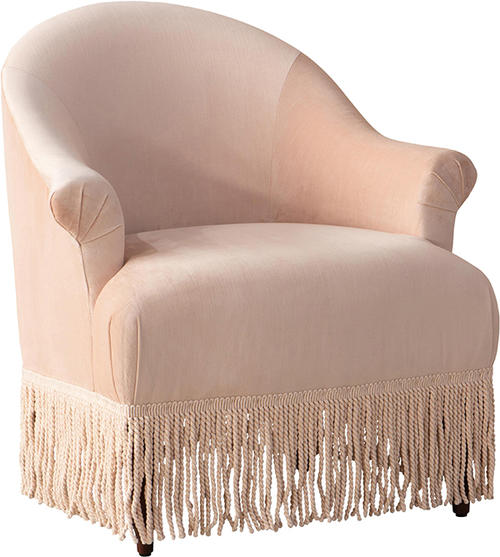 Fringe chair in titan pink champagne 0118