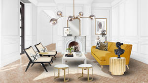 Parisian modern living room 1