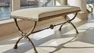 10703 lot 46   diego giacometti  bench