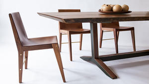 Asher israelow ashen table and lincoln chairs
