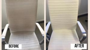 Before after pictures leather chair