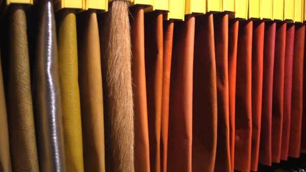 Luxury leather gets colorful