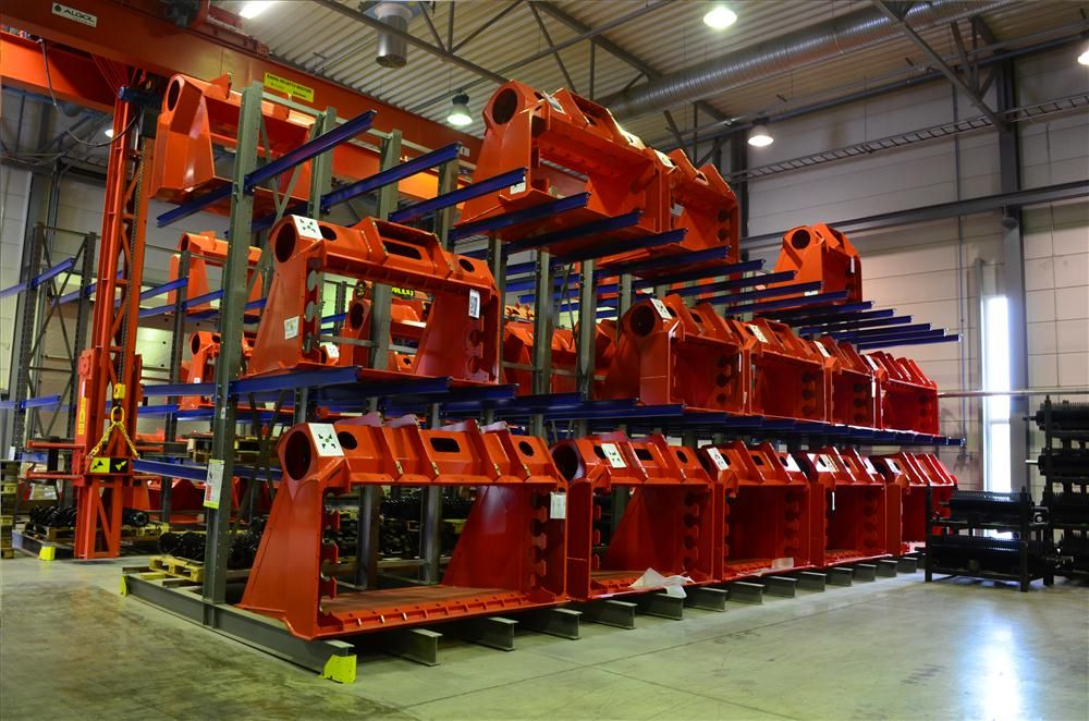 Shells of ALLU's Screener Crusher buckets await the customization process for contractors around the world.