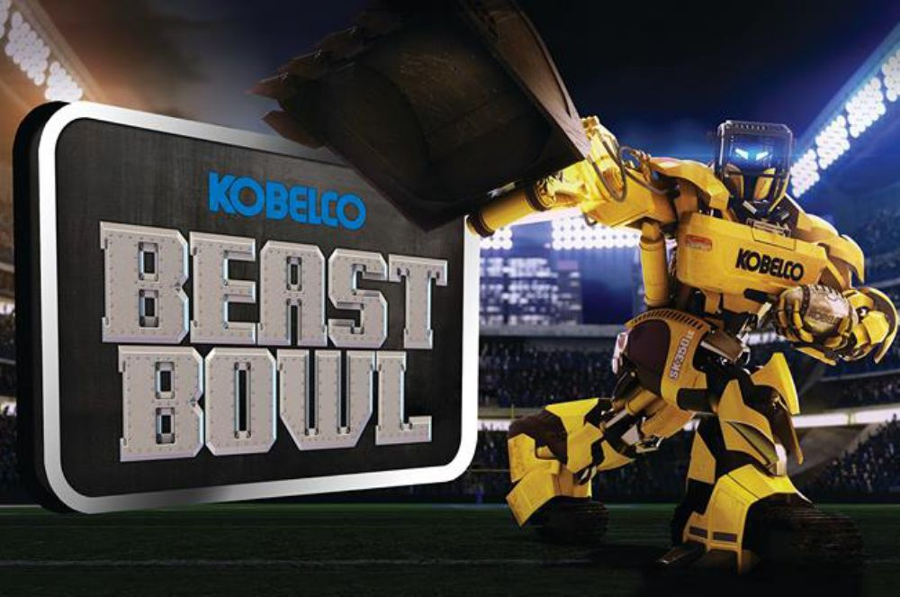 "The game, which has been in development since mid-2013, is designed to showcase the Kobelco Beast and is appropriately called ""The Beast Bowl""."