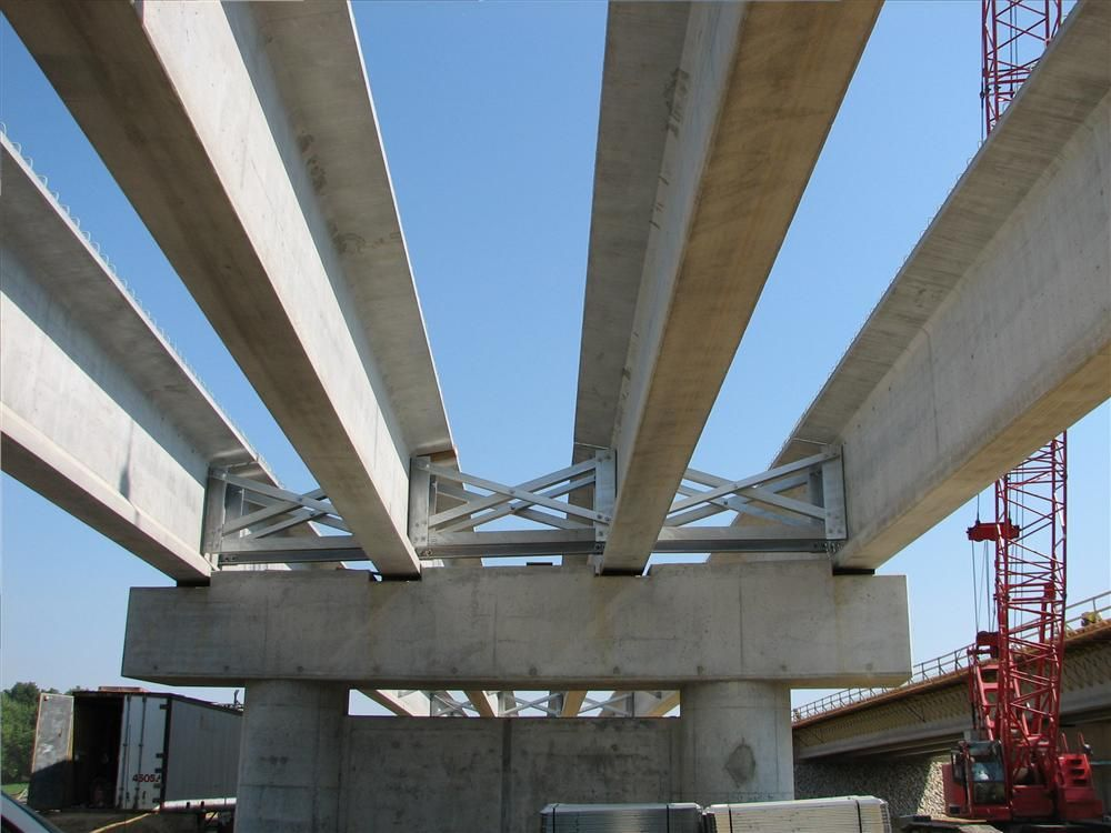 In addition to paving materials, more than 47 million lbs. (21.3 million kg) of reinforcing steel will be used to build pre-cast concrete bridges in Sections 1-3.