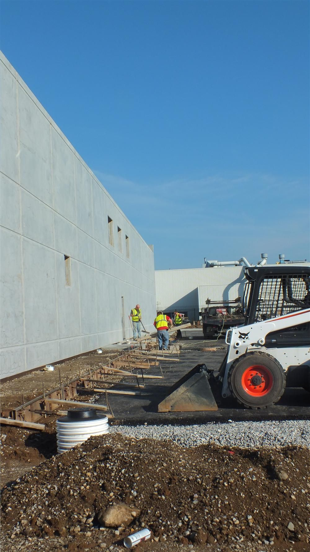 Work on the new headquarters of Sarah Fisher Hartman Racing began Aug. 22 with dirt moving.