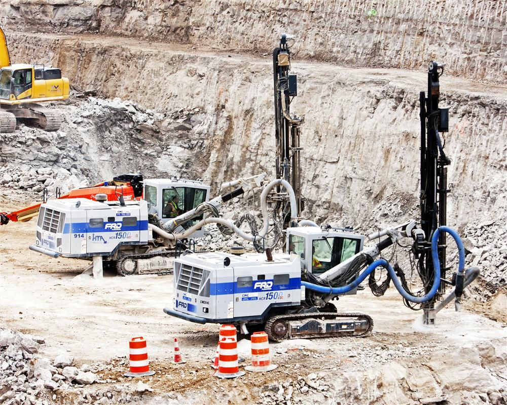 Because of the historical structure and residential area in which they were working, imposed vibration and blasting limitations have significantly impacted production.