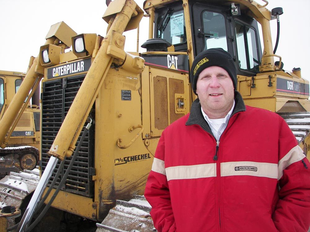 Josh Scheckel, owner of J.J. Scheckel, said the idea of pairing his open house with the Del Peterson Auction of equipment from Ritchie Excavating and Ritchie Quarry out of Bellevue, Iowa, worked out great.
