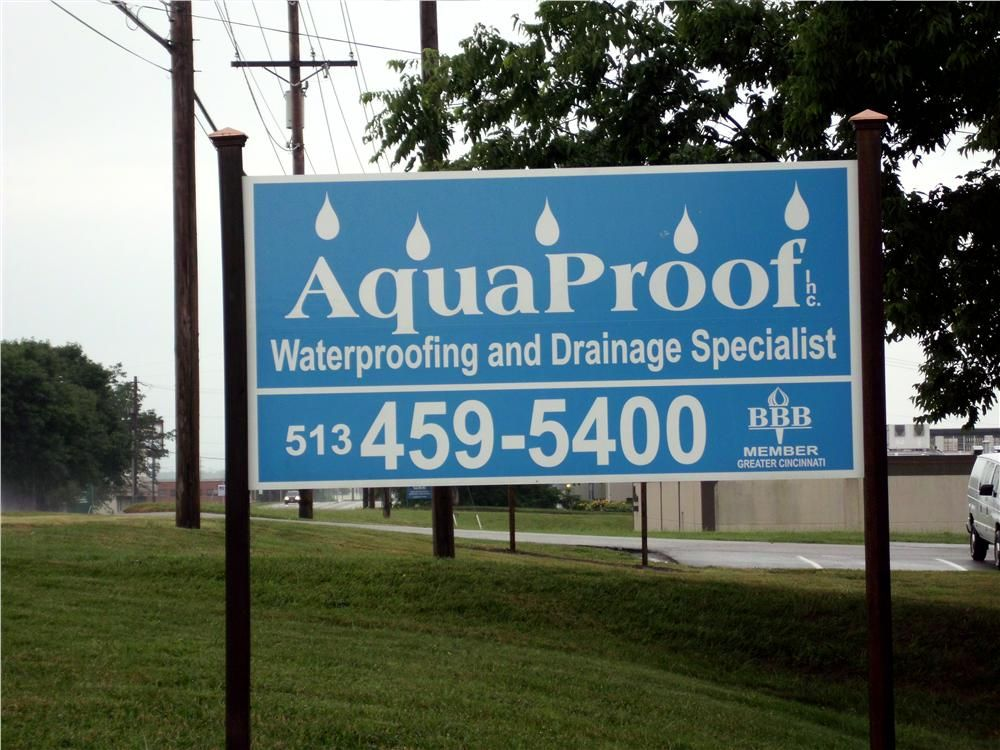 AquaProof Inc. in Cincinnati, Ohio, performs basement waterproofing, drainage work and foundation and structural repair.