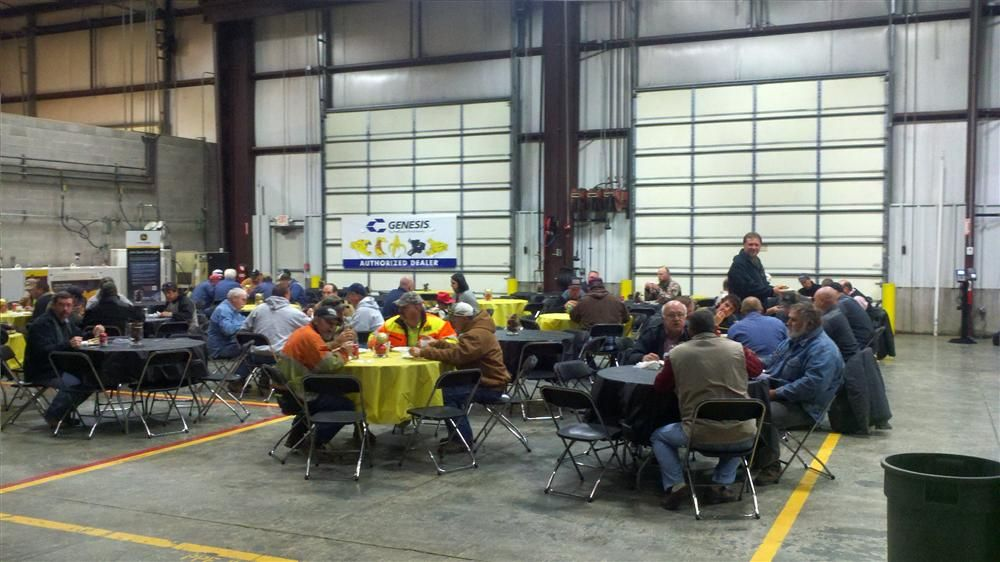 Customers enjoy lunch during the event.