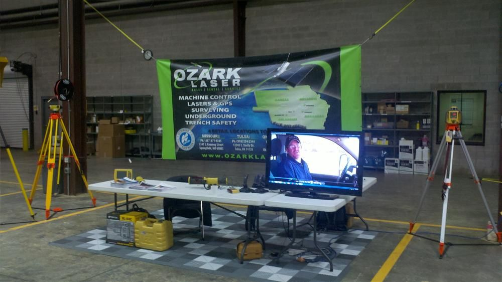 Ozark Laser was set up to show attendees what products and services they offer for equipment, which include machine control lasers and GPS solutions.