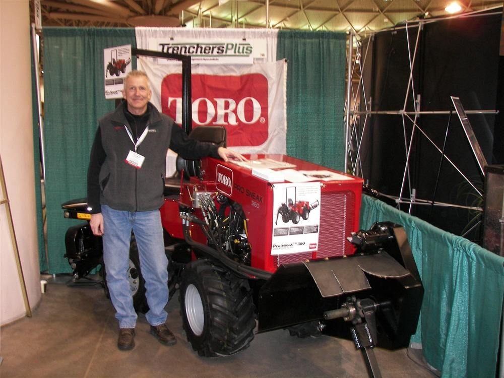 Monty Woolf of Trenchers Plus, Burnsville, Minn., is proud to discuss the debut of the  Toro Pro Sneak 360 vibratory plow.