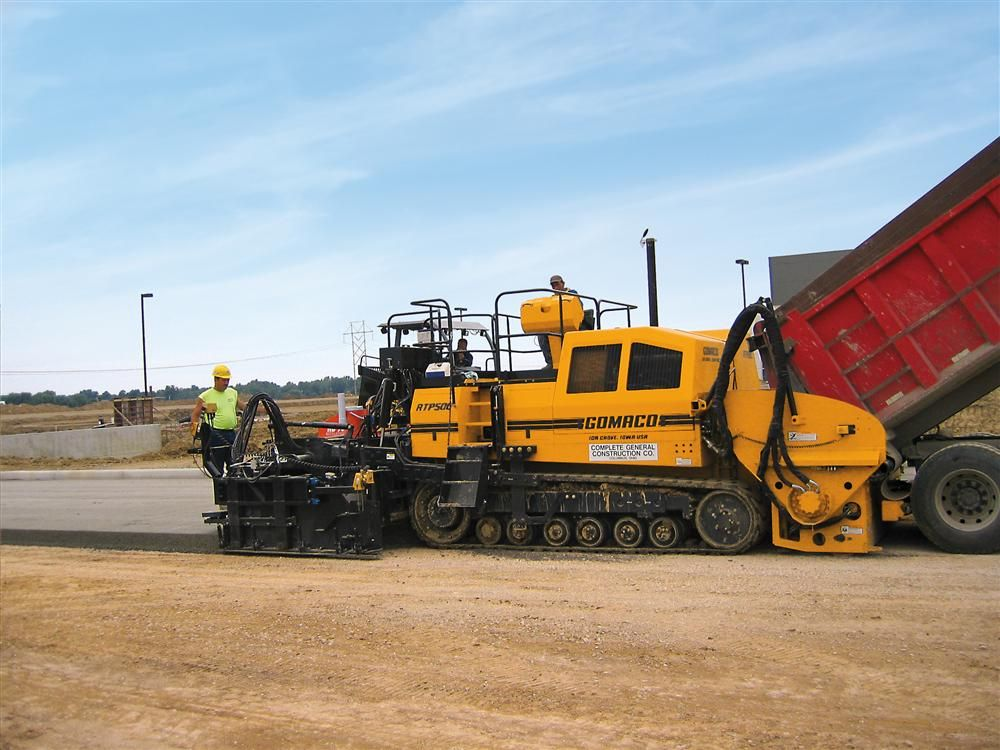 Roller Compacted Concrete Specifications : Rcc gomaco excel on ohio industrial loop road story id
