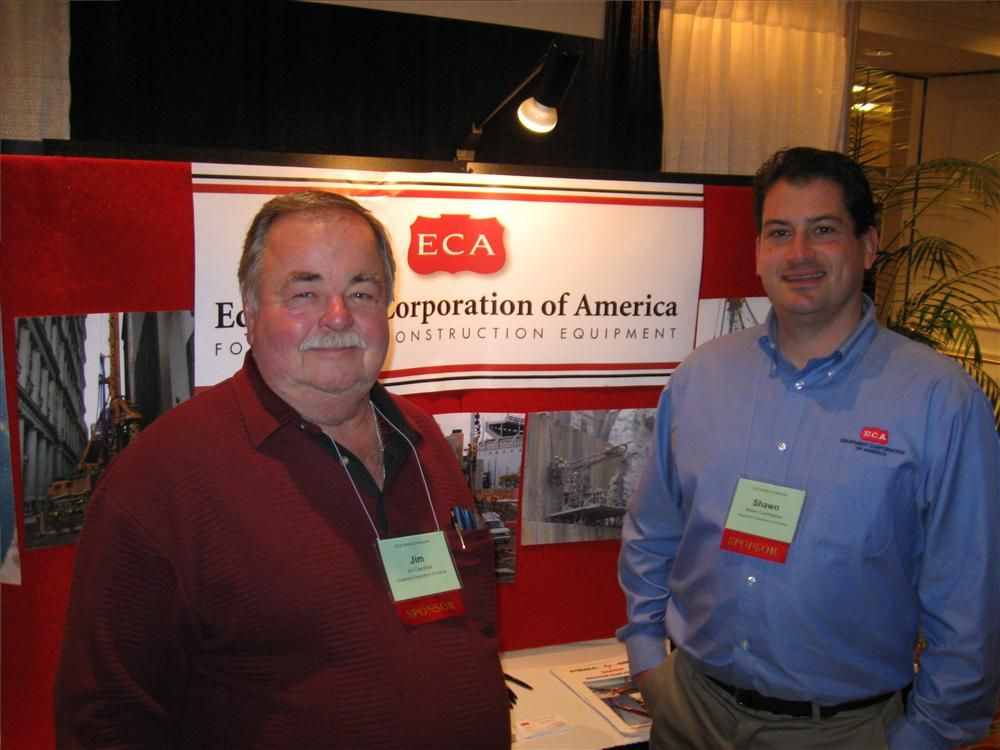 Equipment Corporation of America's Jim Campbell (L) and Shawn Cunningham greet attendees at the show.