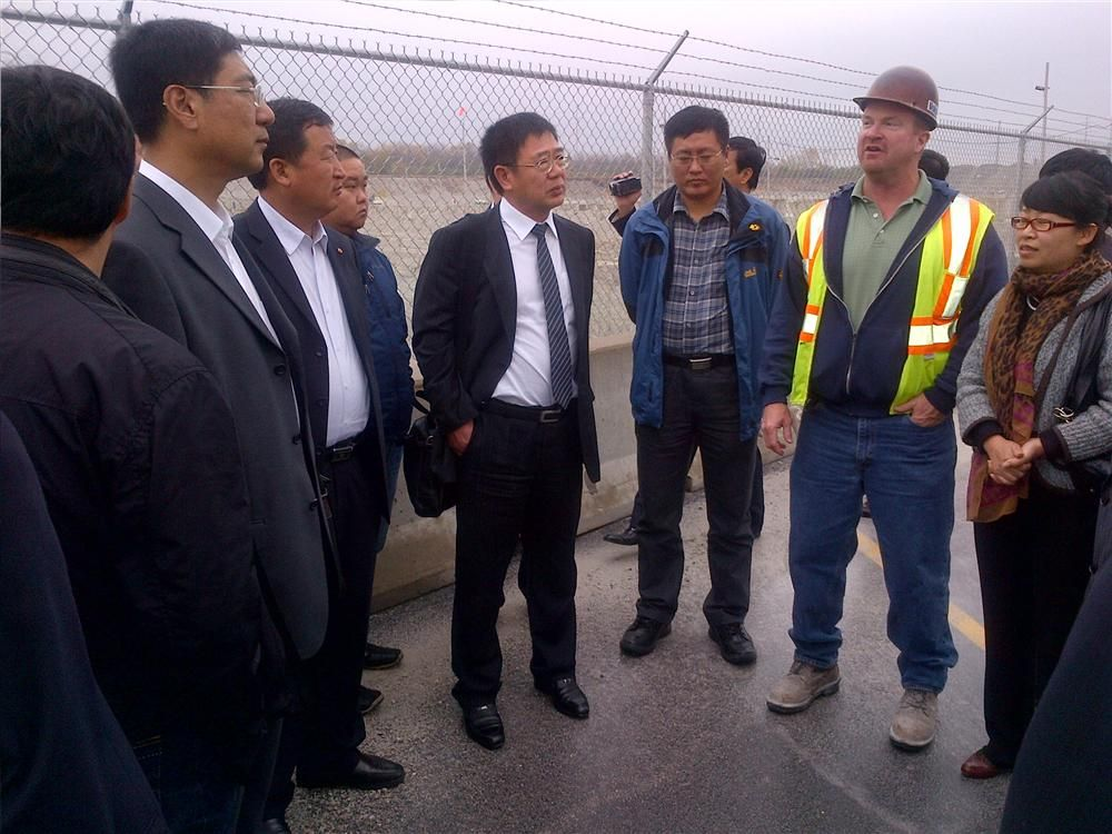 The delegation of Chinese government officials attended lectures, field studies and programs developed by the Illinois Institute of Technology (IIT), and visited the McCook Quarry.