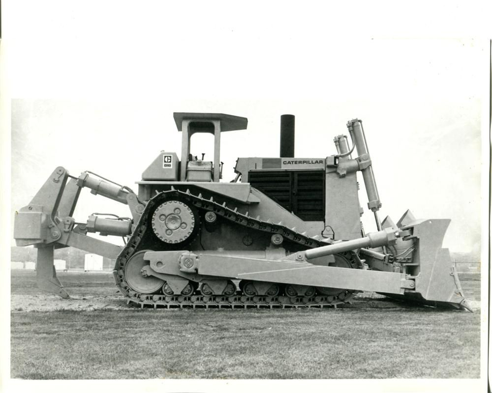 The tractor pictured, named the X-1 and completed in July 1973, was the first prototype for the D10 tractor and was only used for testing. Four X models were later completed and underwent extensive testing at the Caterpillar proving grounds. Field tests f