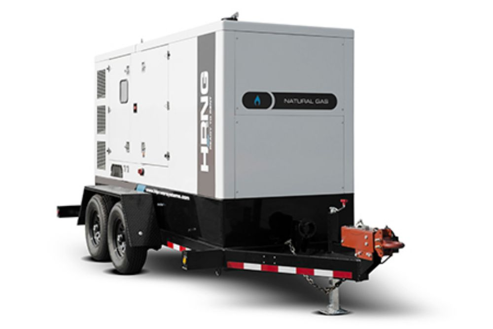 A generator on a trailer.