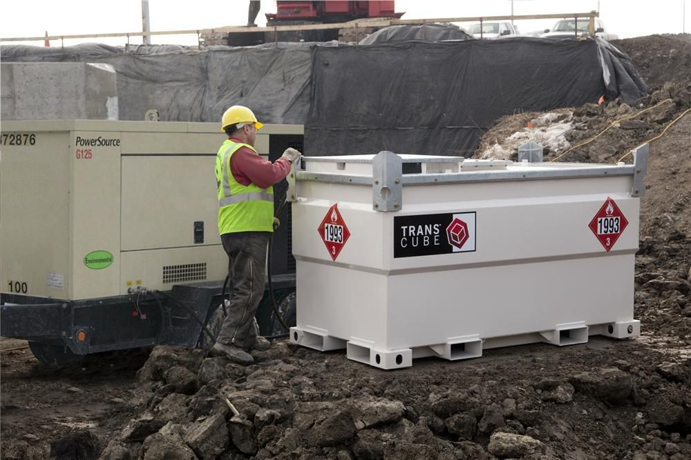Internally baffled to prevent the surge of fuel during transport, Transcube tanks have DOT approval for transportation of diesel fuel, unlike traditional fuel tanks that are not designed for traveling on the road.