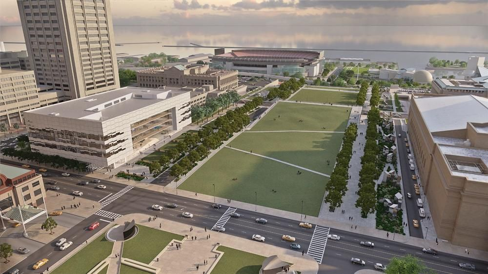 Image courtesy of the Cleveland Medical Mart and Convention Center. This artist's conception shows the first-of-its kind Cleveland Medical Mart (MMCC)