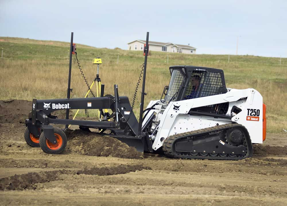 Bobcat now offers two additional grader options for larger and more powerful loaders. New features include hydraulic side-shift for easier grading in tight areas or next to obstacles and an end-wing kit to use the grader like a box blade.