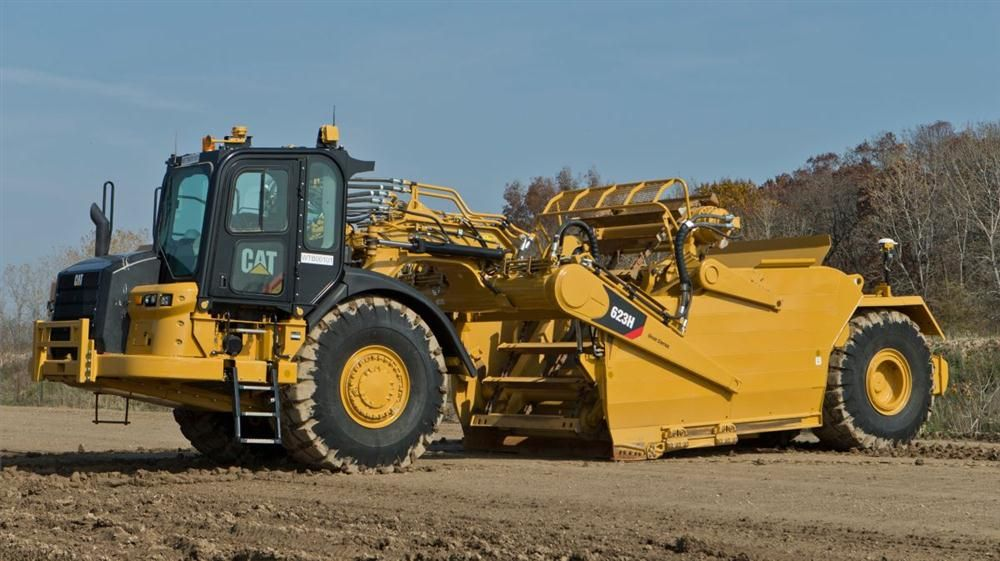 Cat Wheel Tractor : K wheel tractor scrapers offer added productivity