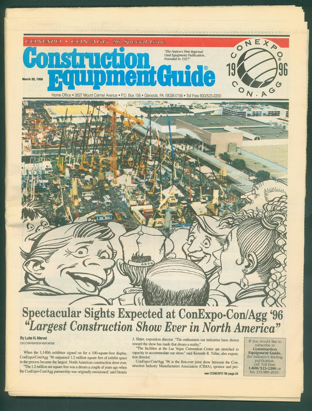 The 1996 ConExpo-Con/Agg show was the largest American construction show ever put together at the time.