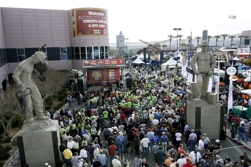 Las Vegas overflows with visitors in the construction industry, indoors and out, during ConExpo years.