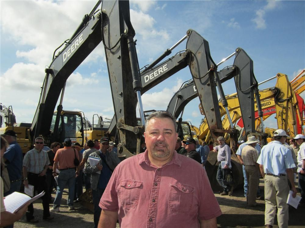 Brian Durfee, corporate used equipment manager, Nortrax, came to see what prices the John Deere excavators would bring.