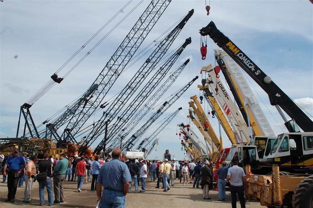 Strong crane prices reflected the improving world economy.