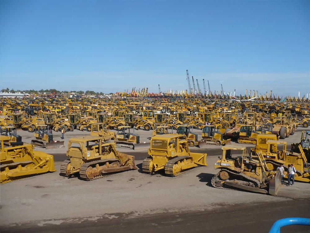 Iron as far as the eye can see await new owners at the Ritchie Bros. Florida auctions.